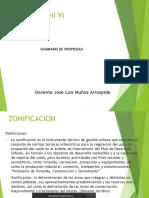 Clase 6 - Zonificación