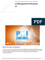 What is (PMP) Certification