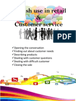 retail comunication in english