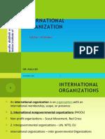 International Institutions in International Law