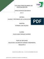 EDUCACIÓN UN DERECHO HUMANO FUNDAMENTAL