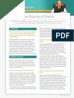 the-priority-of-prayer