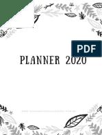 Planner 2020 free para imprimir _ pensamentos Valem Ouro