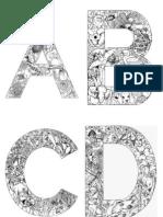 alphabet  abecedari per pintar