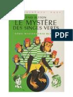 Blyton Enid Le mystère des singes verts
