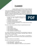 Clasificación del Cuarzo según Krynine