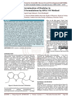 Determination of Etodolac in Commercial Formulations by HPLC-UV Method