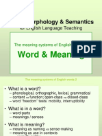 lexis and morphology