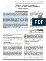 Empirical Analysis and Countermeasure of Know-Fake-Buy-Fake Cases in the Field of Food Safety