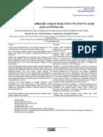 Diuretic activity of methanolic extracts from Jodina rhombifolia aerial parts on Wistar rats.