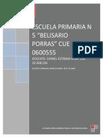 ESCUELA PRIMARIA N  5 reflexion Teresa Punta Daniel Sosa