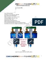 CONFU HHDMI to MIPI Board & Dual  Sharp 2.9 Inch 1440x1440 Ls029b3sx02 LCD TFT for VR MR HMD 3D Simulator China