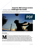 Poole, Steven. The Death of Jesus by JM Coetzee review. A boy who challenges the world