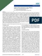 Cross Platform Development using Flutter
