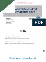 L'Insolvabilité en Droit International Privé