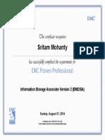Information Storage Associate Version 2 (EMCISA) certificate (1).pdf