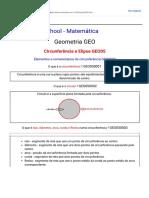 Elementos e nomenclatura da circunferência