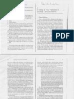 História dos Códigos de Ética Profissionais da Psicologia