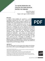 Silva Junior et al (2006) - 1945-1962 - os antecedentes da regulamentação da Psicologia como profissão no Brasil