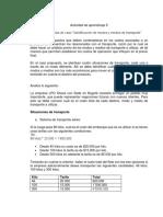 ANALISIS DE CASO IDENTIFICACION DE MODOS Y MEDIOS DE TRANSPORTE
