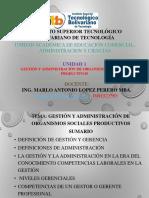 fundamentos de admnistracion UNIDAD 1