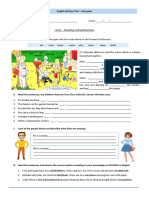 English Written Test - elementary and pre-intermediate