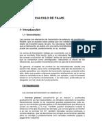 CALCULO DE FAJAS