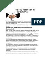 Rescisión y Resolución del Contrato Perú