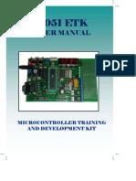 User Manual 8051 Training Kit