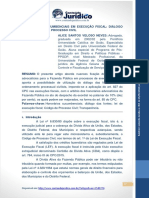 Honorários Sucumbenciais- Diálogo LEF com CPC