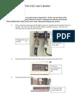 How to use the TGA - DSC ( kalorimeter )