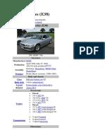 BMW 7 E38 Series