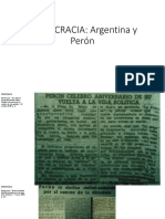 Diario Democracia Argentina y Perón