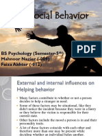 Ext. and Int. Influences on Helping Beh.