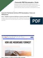 3 Métodos para Convertir PDF Escaneado a Texto