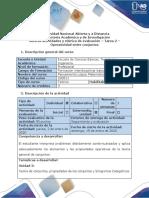Guía de actividades y rúbrica de evaluación - Tarea 2 - Operatividad entre conjuntos