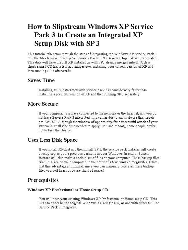 advantages of windows xp