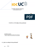 Clase 12-13 El codigo de etica profesional