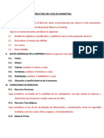 Estructura Plan de Mkt. para 3er Avance del
