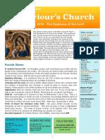st saviours newsletter - 5 jan 2020 - epiphany