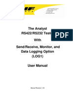 RS422 RS232 Tester (LOG1) Log-SR_Option User Manual