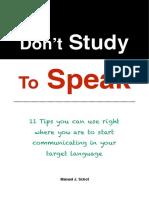 Don't Study To Speak (1)