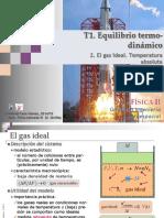 1.2. El Gas Ideal. Temperatura Absoluta.