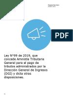 Boletin - Ley 99 de 2019 Amnistía Tributaria.pdf