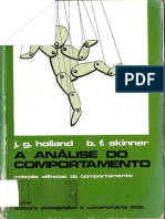 Holland & Skinner (1965). A Análise do Comportamento