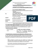 INFORME DE PRECALIFICACIÓN - EJECUCIÓN DE GASTOS DEL PROGRAMA VASO DE LECHE