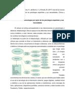 González-Peña, P., Torres, R., del Barrio, V. y Olmedo, M. (2017) Uso de las nuevas tecnologías por parte de los psicólogos españoles y sus necesidades