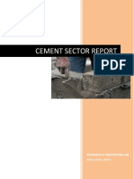 337721810 Cement Sector Report