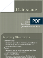 World Literature report