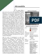 Biblioteca de Alexandria – Wikipédia, A Enciclopédia Livre